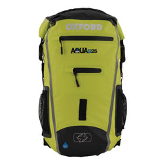 Oxford AQUA B25 Motorcycle Scooter All Weather Waterproof BackPack - BLACK/FLUO - Oxford -  - MSG BIKE GEAR