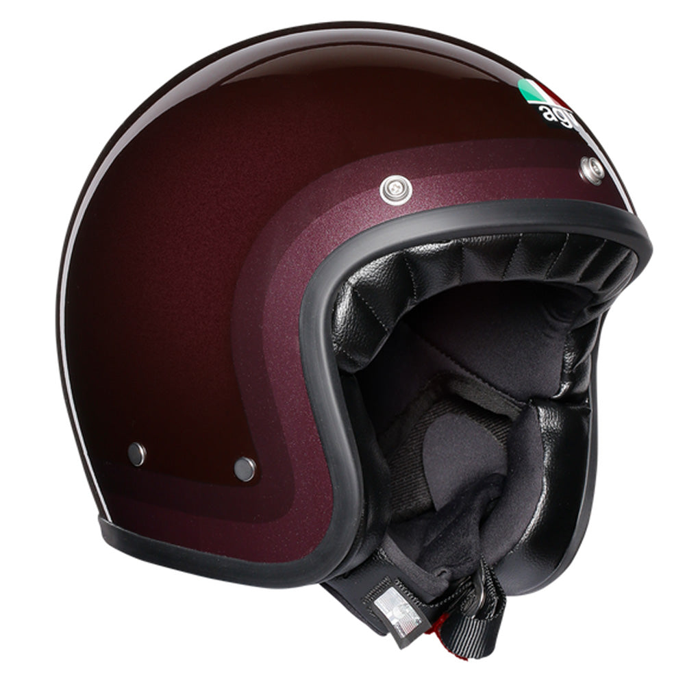 AGV Legends X70 Retro Open Face Helmet - Trofeo Purple / Red