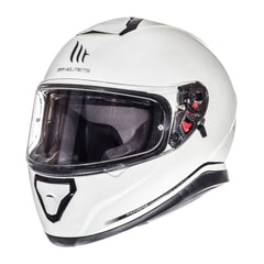 MT Thunder 3 SV Solid Full Face Helmets - Pearl White