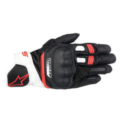 Alpinestars SP-5 Leather Gloves - Black / White / Red