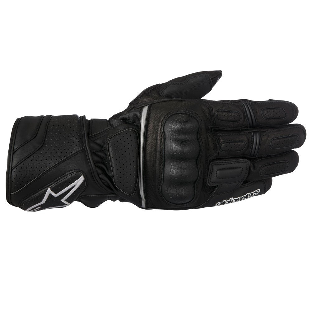 Alpinestars SP-Z Drystar Waterproof Leather Motorcycle Gloves - Black - Alpinestars -  - MSG BIKE GEAR - 1