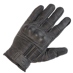 Richa Shadow Retro Leather Motorcycle Gloves - Grey