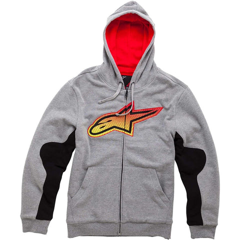 Alpinestars Passive Casual Fleece Zip Up Hoody Hoodie -  Grey - ALPINESTARS -  - MSG BIKE GEAR - 1