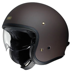 Shoei J.O. Open Face Helmet - Matt Brown