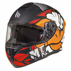 MT Targo Truck Helmet - Matt Black / Red / White