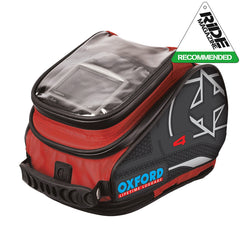 Oxford X4 QR Quick Release Motorbike Motorcycle Tank Bag - 4 Litres - RED - Oxford -  - MSG BIKE GEAR - 1