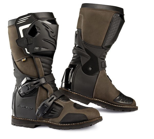 FALCO AVANTOUR ADVENTURE TOURING CE APPROVED MOTORCYCLE BOOTS BROWN - Falco -  - MSG BIKE GEAR