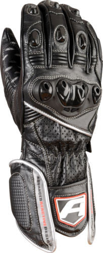 Akito Sports Rider Leather Motorbike Race Motorcycle Gloves - Black Silver - Akito -  - MSG BIKE GEAR