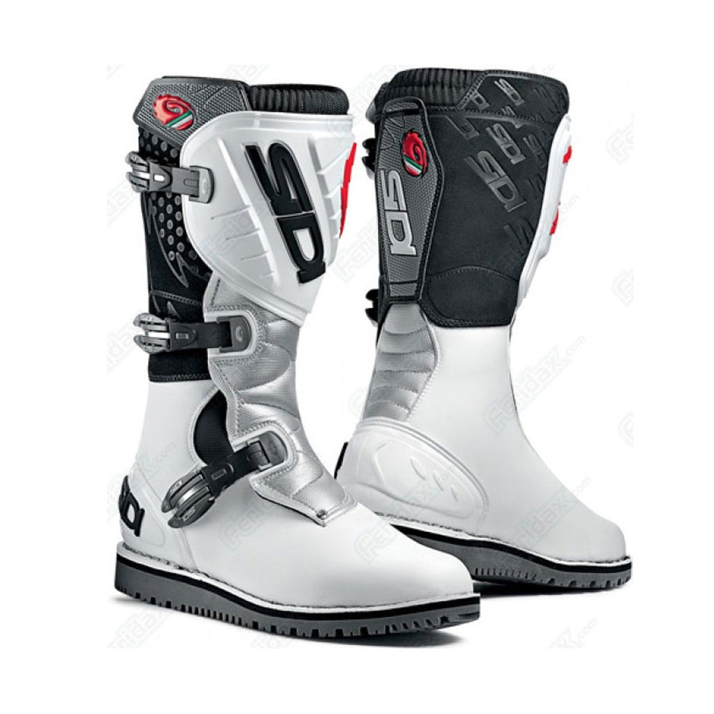 SIDI TRIAL ZERO MX MOTOCROSS OFF ROAD ENDURO BOOTS WHITE / WHITE - SIDI -  - MSG BIKE GEAR