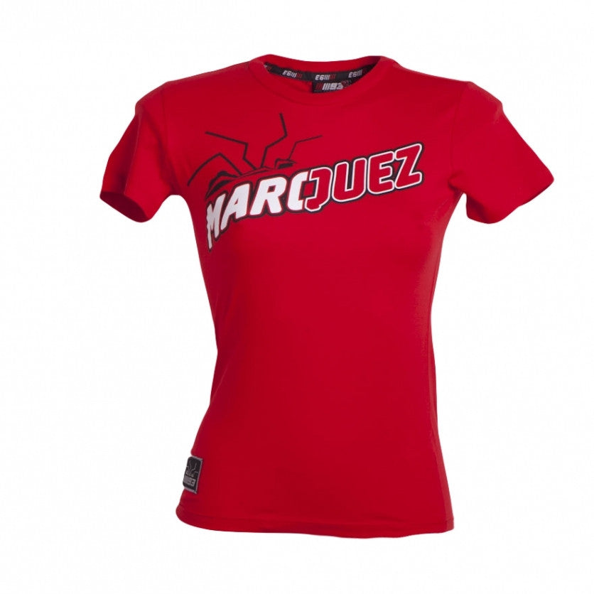 VR46 MotoGP Marc Marquez #93 T Shirt Lady Red MM93 - VR46 -  - MSG BIKE GEAR - 1