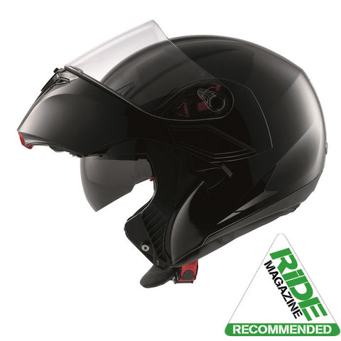 White - Black - Red, L Multi Modular Flip Up Motorcycle Helmet AGV Compact-ST Detroit