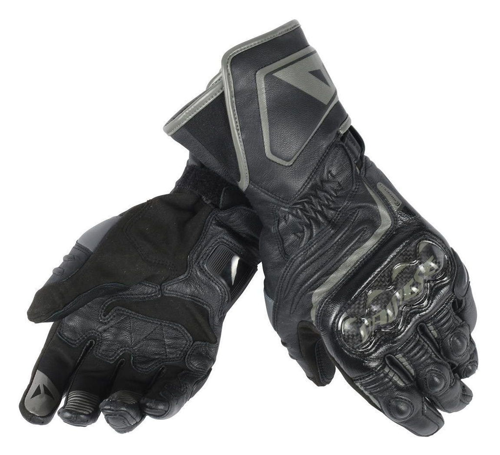 Dainese Carbon D1 Long Leather Motorcycle Racing Track Gloves - Black - Dainese -  - MSG BIKE GEAR - 1