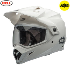 Bell 2018 MX-9 Adventure MIPS Helmet - Solid White