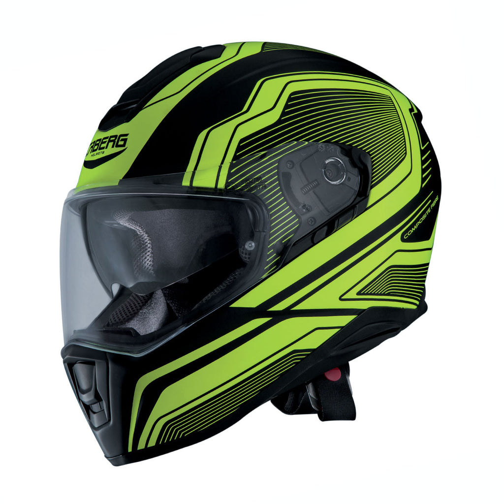 Caberg Drift DVS Dual Visor Full Face Motorcycle Helmet Flux Matt Black/Yellow - Caberg -  - MSG BIKE GEAR - 1