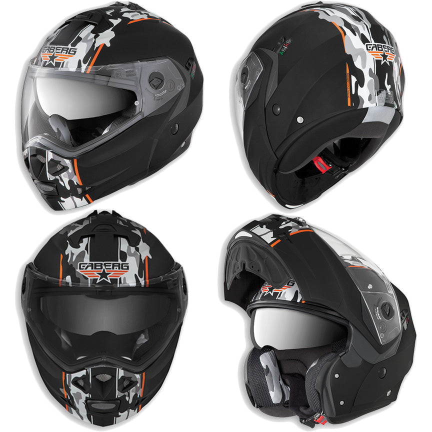 CABERG DUKE COMMANDER FULL FACE FLIP UP DVS MOTORBIKE MOTORCYCLE HELMET - Caberg -  - MSG BIKE GEAR