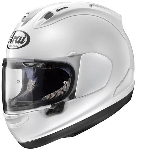 Arai RX-7V Full Face Race Motorbike Motorcycle Crash Helmet Lid Diamond White - Arai - - MSG BIKE GEAR - 1