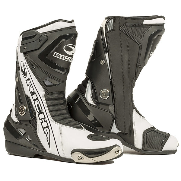 Richa Blade Waterproof Motorcycle Boots Black/White - Richa -  - MSG BIKE GEAR