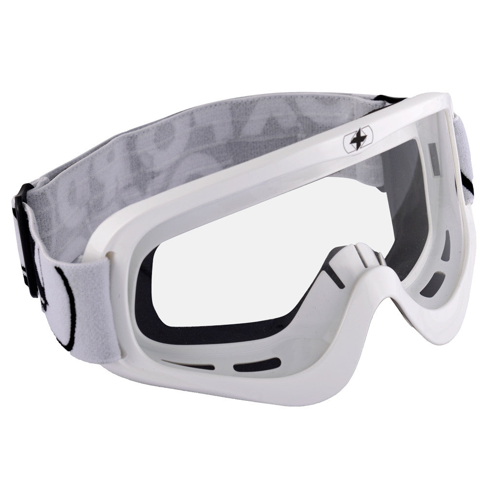 Oxford Fury Adult Motocross MX Enduro ATV Goggles Gloss White - Clear Lens - Oxford -  - MSG BIKE GEAR