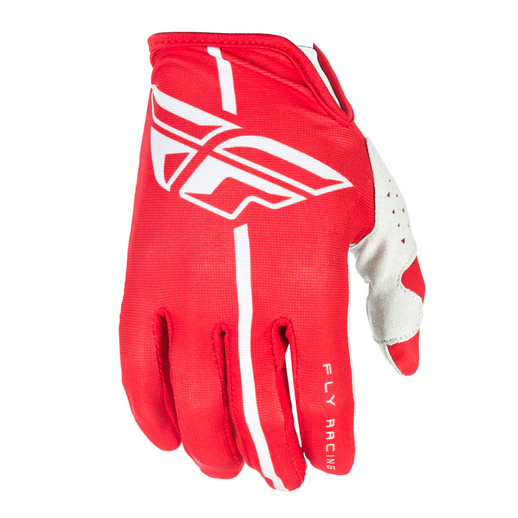 Fly Racing 2018 Lite Adult Motocross Gloves - Red / Grey