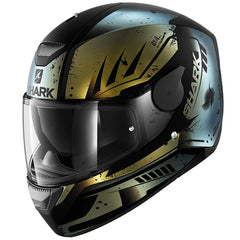 Shark Dark D-Skwal Full Face DVS Motorbike Motorcycle Helmet Dharkov Matt KGX - Shark -  - MSG BIKE GEAR - 1