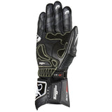 Furygan FIT-R Leather Racing Sports Gloves - Black/White