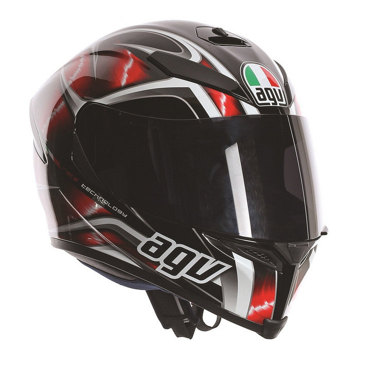 AGV K5-S DVS Sports/Touring Full Face Motorcycle Helmet - Hurricane Black/Red - AGV -  - MSG BIKE GEAR