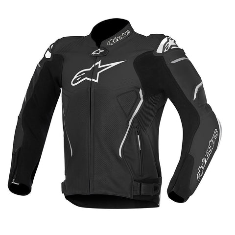 Alpinestars Atem Sports Track Leather Motorbike Motorcycle Jacket - Black - Alpinestars -  - MSG BIKE GEAR - 1