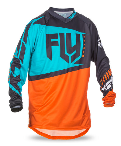 Fly 2017 F-16 MX Motocross MTB Downhill Adult Jersey Orange/Teal - Fly Racing -  - MSG BIKE GEAR - 1