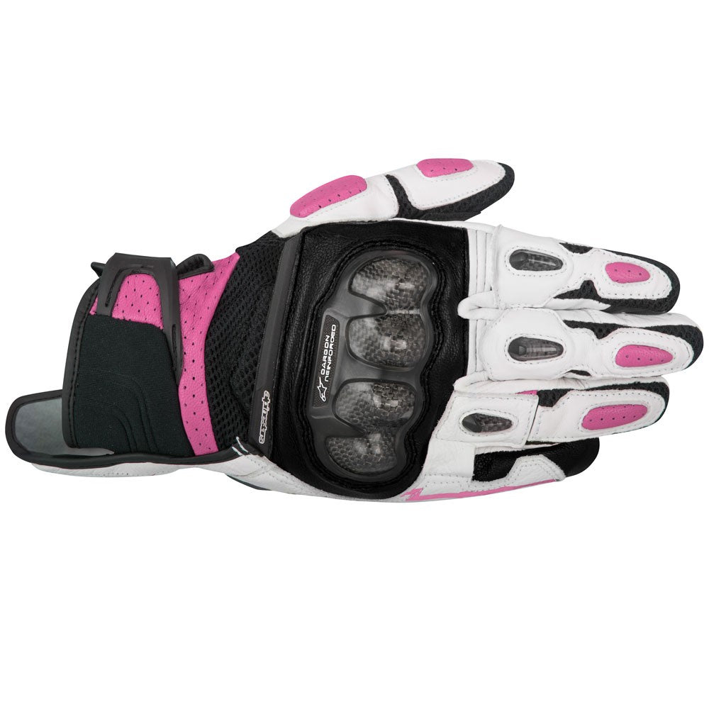 Alpinestars Stella SP-X Air Carbon Ladies Short Motorcycle Gloves - Fuchsia - Alpinestars -  - MSG BIKE GEAR - 1