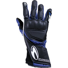 Richa WSS Leather Sports Summer Racing Motorcycle Gloves Black/blue - Richa -  - MSG BIKE GEAR