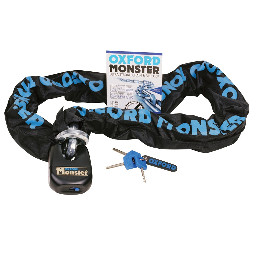 Oxford OF802 Monster 1.5m Thatcham Chain & Padlock