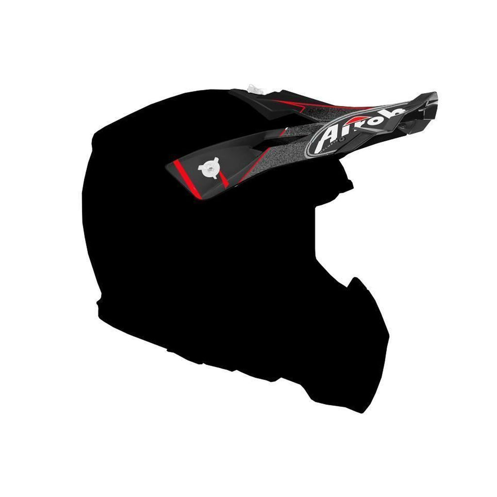 Airoh Aviator 2.2 Replacement MX Helmet Peak - Styling Red Matt