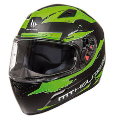 MT Mugello 'Vapour' Helmet - Matt Black / Green