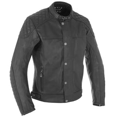 Oxford Hampton Classic Leather Jacket - Black