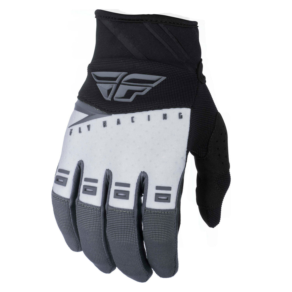 Fly Racing F-16 Adult MX Motocross Off Road Gloves - Black/White/Grey S