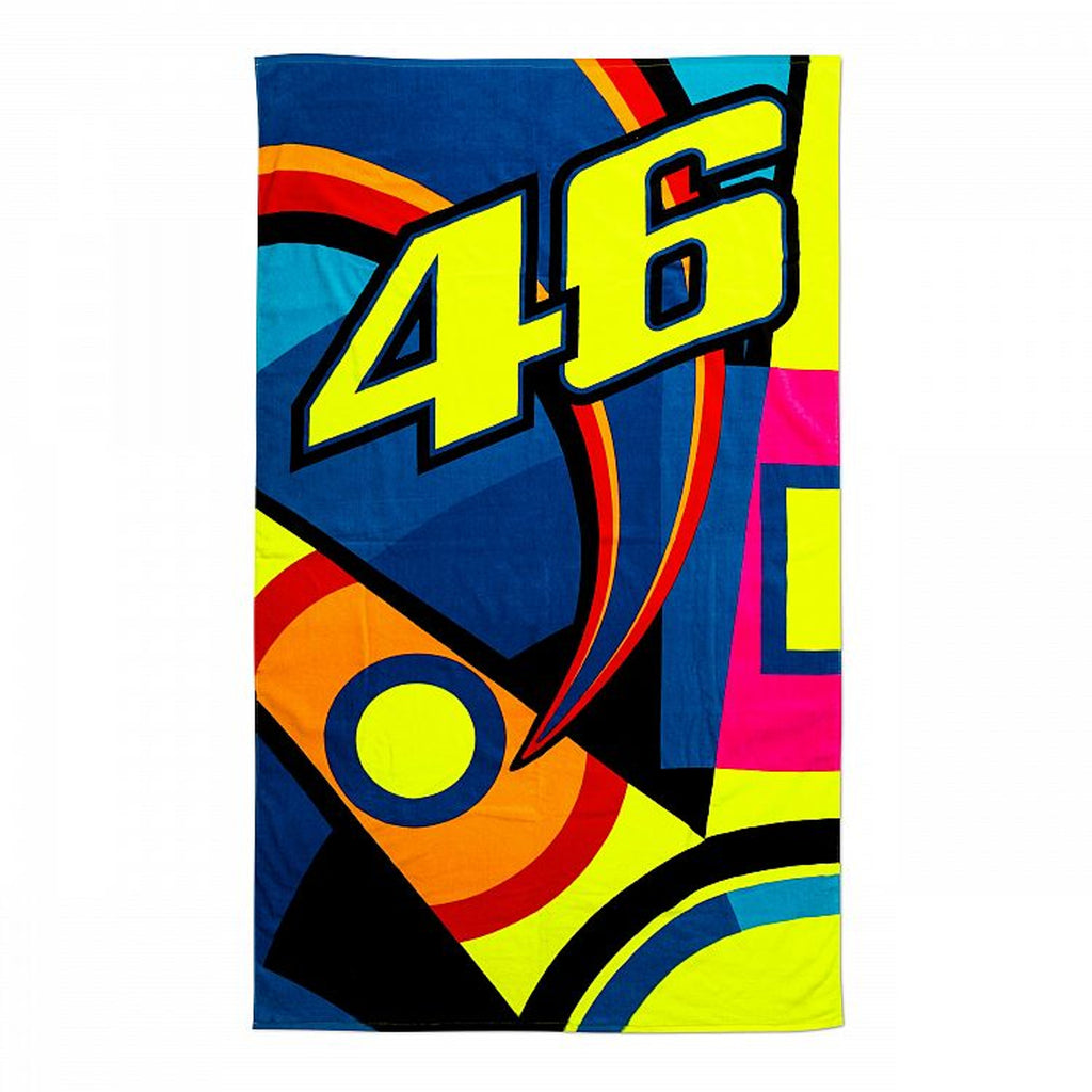 Official VR46 Valentino Rossi Sun and Moon 46 beach towel
