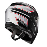 Caberg Stunt Full Face Touring Motorcycle Helmet - Blade White/Black/Red  S - Caberg -  - MSG BIKE GEAR - 2