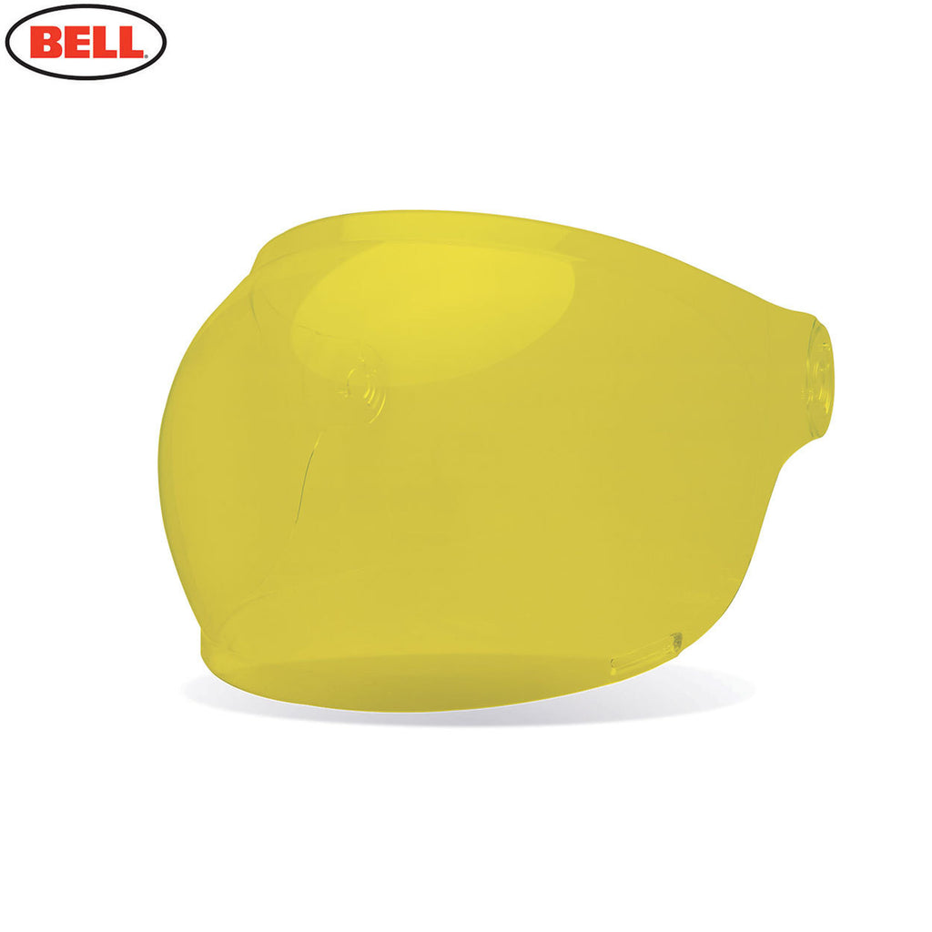 Bell Bullitt Helmet Bubble Shield / Visor (Brown Tabs) Yellow - Bell -  - MSG BIKE GEAR