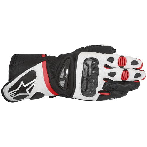 AlpineStars  SP-1 Leather Motorcycle Motorbike Gloves - Black White Red - Alpinestars -  - MSG BIKE GEAR - 1