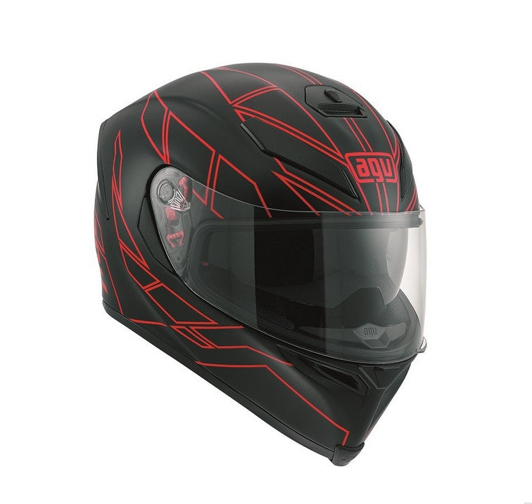 AGV K5-S DVS Sports/Touring Full Face Motorcycle Helmet - Hero Black/Red - AGV -  - MSG BIKE GEAR