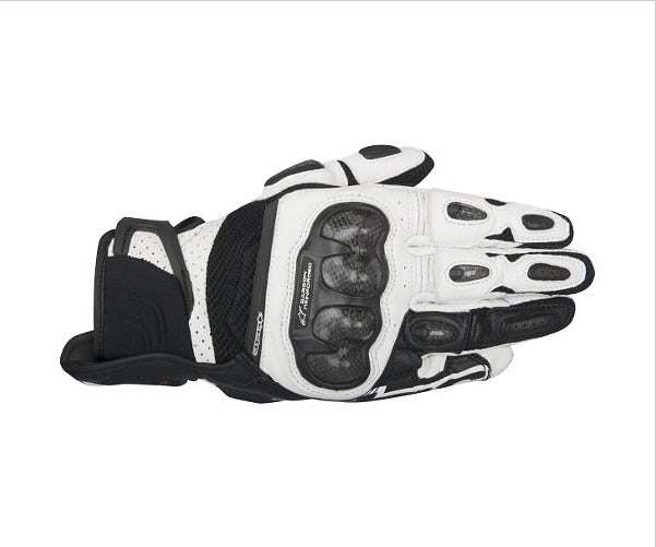Alpinestars SP-X Air Carbon Leather Short Motorcycle Gloves - Black/White - Alpinestars -  - MSG BIKE GEAR