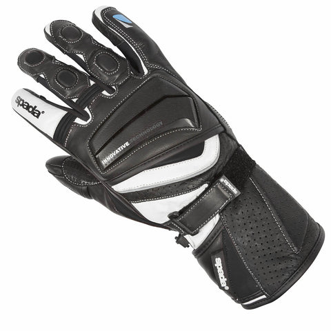 Spada Finesse Motorcycle Motorbike Ladies Touring Vented Gauntlet Gloves Black