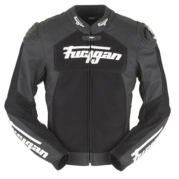 Furygan Speed Mesh Leather Men's Motorbike Motorcycle Jacket - Black - Furygan -  - MSG BIKE GEAR - 1