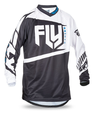 Fly 2017 F-16 MX Motocross MTB Downhill Adult Jersey Black/White - Fly Racing -  - MSG BIKE GEAR - 1
