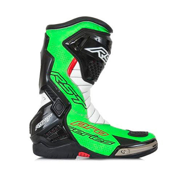 RST PRO SERIES 1503 RACE CE MOTORCYCLE BOOTS NEON GREEN - RST -  - MSG BIKE GEAR - 1