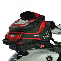 Oxford Q4R Quick Release Motorbike Motorcycle Tank Bag - Red 4 Litres - Oxford -  - MSG BIKE GEAR - 1