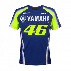 2018 Valentino Rossi 46 Yamaha Racing T-Shirt Mens - Blue/Yellow