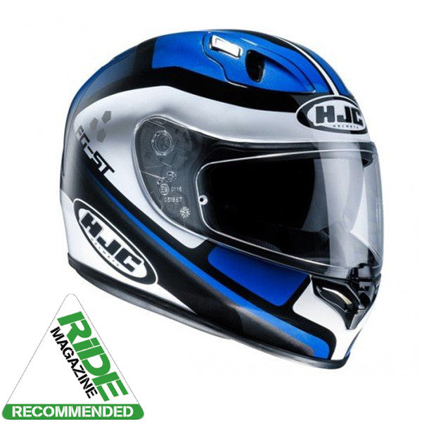 HJC FG-ST Sun Visor Full Face Motorcycle Helmet-Cinnati MC2 Blue/White/Black - HJC -  - MSG BIKE GEAR - 1