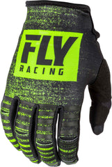 Fly Racing 2019 Youth Kinetic Noiz Motocross Gloves - Black / Hi-Viz