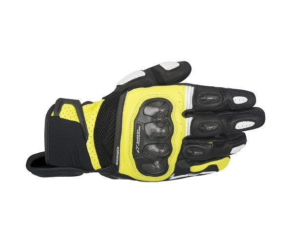 Alpinestars SP-X Air Carbon Leather Short Motorcycle Gloves - Black/Yellow - Alpinestars -  - MSG BIKE GEAR